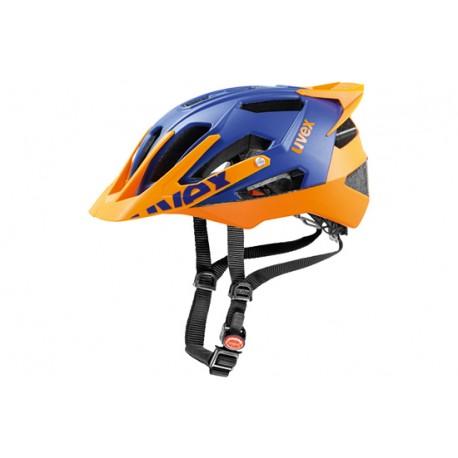 Raleigh Uvex Quatro Pro Helmet   17 ventilation channels   Blue/Orange