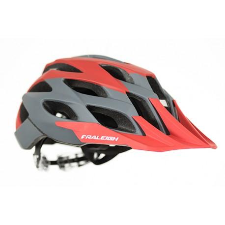 Raleigh TYR MTB Helmet | Red/Grey | Removable Visor