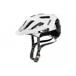 Raleigh Uvex Quatro Helmet - 17 ventilation channels - White/Black