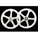 "White Skyway Tuff | 20"" BMX Mag Wheels | Sealed Bearings"