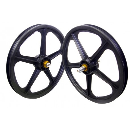 "Blue Skyway Tuff   20"" BMX Mag Wheels   Sealed Bearings"