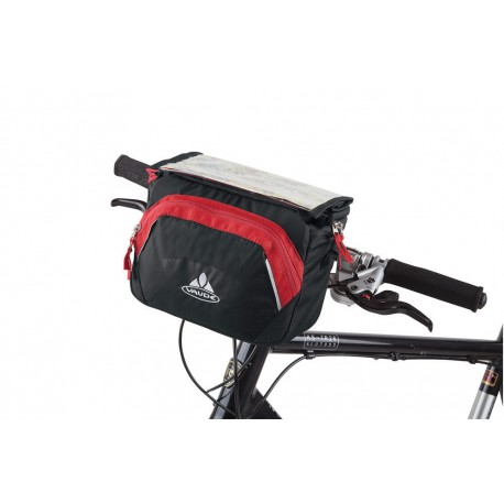 Vaude Road | Handlebar Bag | Black and Grey | 200D polyurethane coated