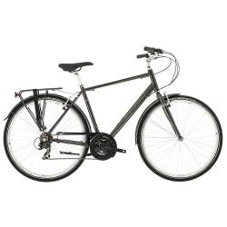 Raleigh Pioneer 1 | Mens Hybrid Bike | 21 Speed | Grey Crossbar Frame