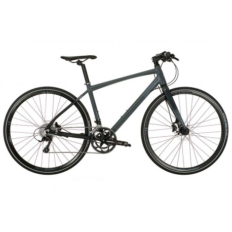 Raleigh Strada Speed 1 | Hybrid Bike | Grey Frame | 18 Speed