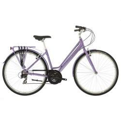 Raleigh Pioneer 1 | Low Step-Over Purple Frame | 21 Speed