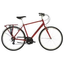Raleigh Pioneer 2 | Red Crossbar Frame | 24 Speed | Hybrid