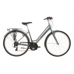 Raleigh Pioneer 2 | Ladies Hybrid Bike | Low Step Over Grey Frame | 24 Speed