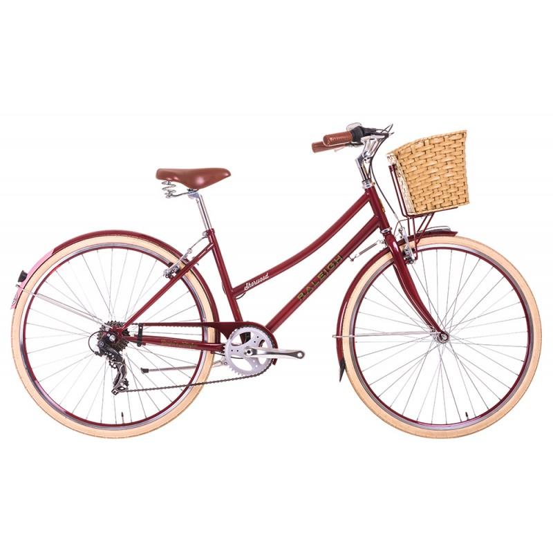 Raleigh Sherwood Ladies Classic City Bike Cherry Frame