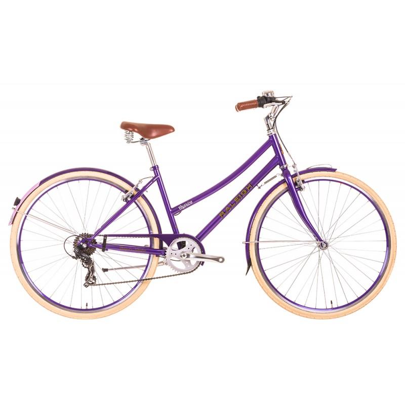 Raleigh Caprice Ladies City Bike Purple Frame 7 Speed