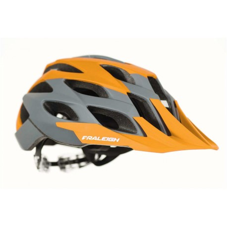 Raleigh TYR MTB Helmet | Orange/Grey | Removable Visor