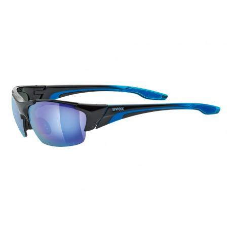 Uvex Blaze 111 Sunglasses   2018 Model   3 Lens   Black/Blue