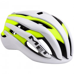 MET Trenta | 2018 White/Yellow Road Helmet | Bikes24-7.com | £195