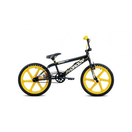 "ROOSTER BIG DADDY - 20"" YELLOW MAG WHEEL - BLACK FRAME"