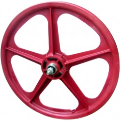 "Red Skyway Tuff | 20"" BMX Mag Wheels 