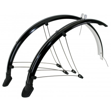 "Mountain Bike 26"" 60mm Full Mudguard Set | Black or Silver | RRP £24.99"