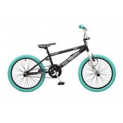 "Rooster Big Daddy | BMX | Black, Silver and Turquoise | 20"" Wheel"