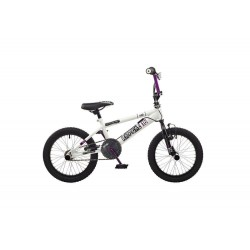 "Rooster Radical | BMX | White, Black and Purple | 16"" Wheel"