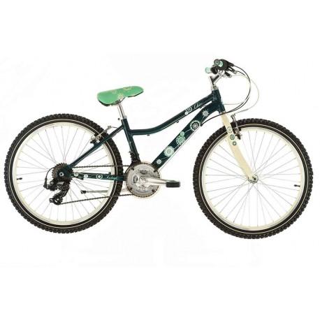 "Raleigh Chic 24 | Girls Mountain Bike | 24"" Wheel | Green Frame, Cream Fork"