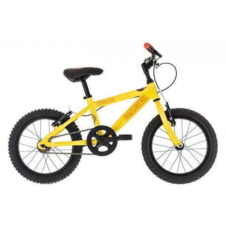 Raleigh Zero 16 | Children's Bike | Yellow Frame | Single Speed