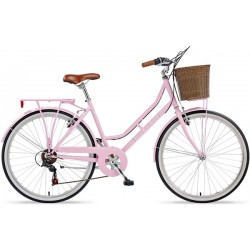 "Viking Belgravia | Ladies Heritage Bike | 26"" Wheel | Pink Frame"