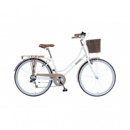 "Viking Belgravia | Ladies Heritage Bike | 26"" Wheel | White/Coffee Frame"