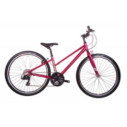 Raleigh Strada 1 | Ladies Open Frame | Red | 21 Speed
