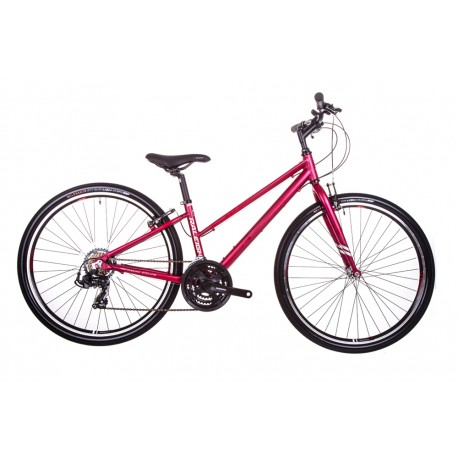 Raleigh Strada 1 |Ladies Open Frame | Red | 21 Speed