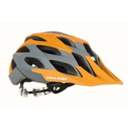 Raleigh TYR MTB Helmet | Orange/Grey | Removable Visor