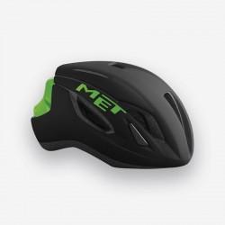 MET Strale | Road Bike Helmet | Black/Green | Free Delivery | £65.50