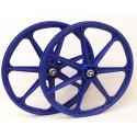 "Blue Skyway Tuff | 24"" BMX Mag Wheels | Sealed Bearings"