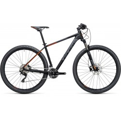 "Cube Attention SL | Hardtail Mountain Bike | Black/Orange | 21"" Frame"