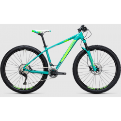 Cube Access GTC Pro | Ladies Mountain Bike | Mint Green Carbon Frame