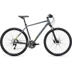 Cube Cross Pro 2017 | Mens Hybrid Bike | Grey Frame