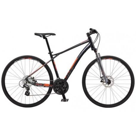 GT Transeo 4.0 | Mens Hybrid Bike | Black Frame | Front Suspension