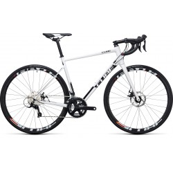 Cube Attain Pro Disc | Road Bike | 2017 White and Black 53 and 58cm