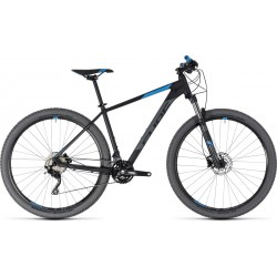 Cube Attention | Hardtail Mountain Bike | Black and Blue 2018 Frame