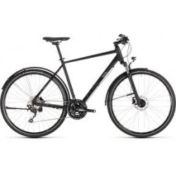 CUBE NATURE EXC ALL-ROAD | BLACK / GREY | ADULTS HYBRID SPORTS BIKE