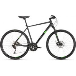 CUBE CROSS PRO | IRIDIUM AND GREEN | ADULTS MOUNTAIN BIKE 2019