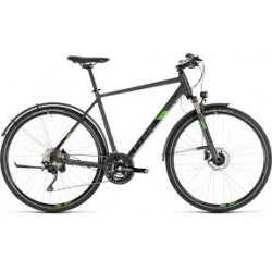 CUBE CROSS ALL-ROAD | IRIDIUM AND GREEN | HYBRID ADULTS BIKE 2019