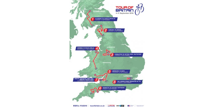 Tour Of Britain Route Announced